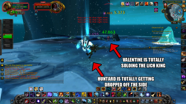 Valentine Solos the Lich KingAnd then I, the huntard, failed him.